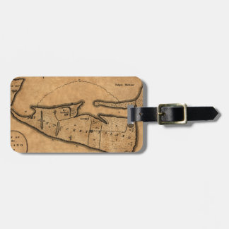 Map of Nantucket 1782 Luggage Tag
