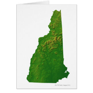 Map of New Hampshire Card