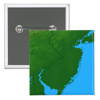 Map of New Jersey 15 Cm Square Badge