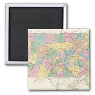 Map of New Jersey And Pennsylvania Square Magnet
