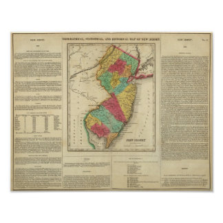 Map Of New Jersey Poster