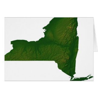 Map of New York State Card