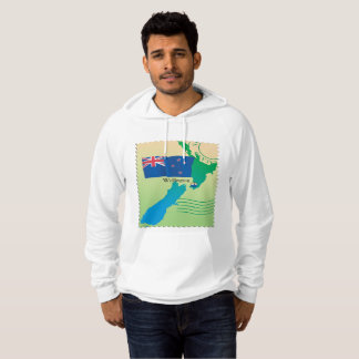Map Of New Zealand Mens Hoodie