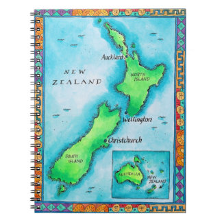 Map of New Zealand Notebook