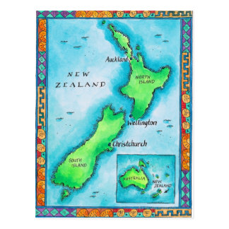 Map of New Zealand Post Cards