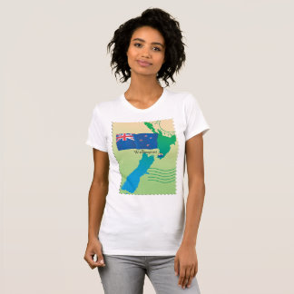 Map Of New Zealand Womens T-Shirt