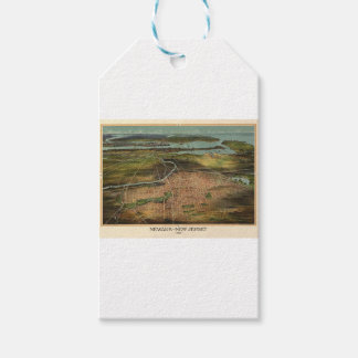 Map of Newark 1916 Gift Tags