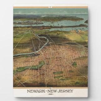 Map of Newark 1916 Plaque