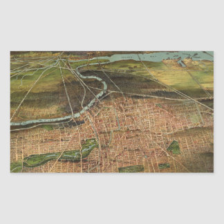 Map of Newark 1916 Rectangular Sticker