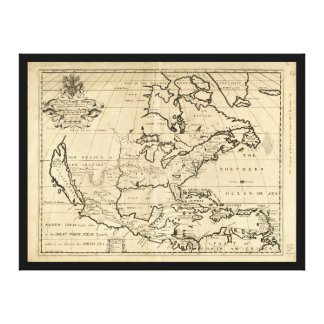 Map of North America (1722) Canvas Print
