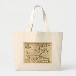 Map of North America (1722) Jumbo Tote Bag