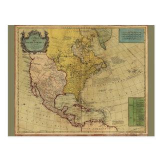 Map of North America (1765) Postcard