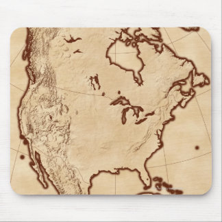 Map of North America 2 Mouse Pad