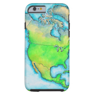 Map of North America 3 Tough iPhone 6 Case
