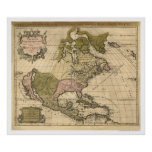 Map of North America by Alexis Hubert Jaillot 1694 Poster