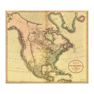 Map of North America by John Cary (1811) Canvas Print