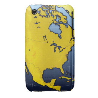 Map of North America iPhone 3 Covers