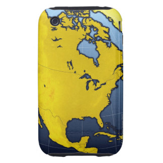 Map of North America iPhone 3 Tough Covers