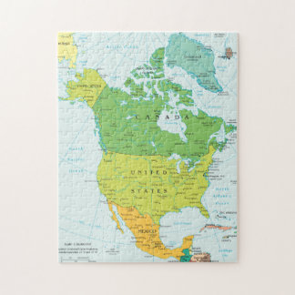 Map of North-America Jigsaw Puzzle