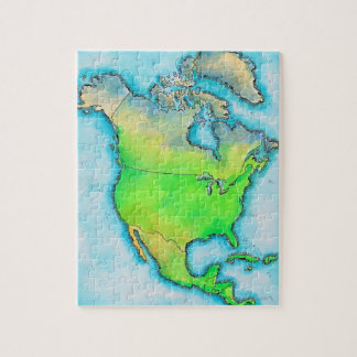 Map of North America Jigsaw Puzzle
