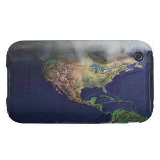 Map of North America with fog iPhone 3 Tough Covers