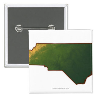 Map of North Carolina 2 15 Cm Square Badge