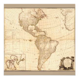 Map of North & South America (1786) Card