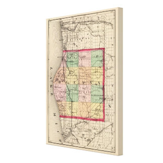 Map of Oceana County, Michigan Gallery Wrap Canvas