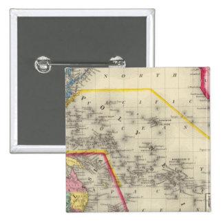 Map Of Oceanica 15 Cm Square Badge