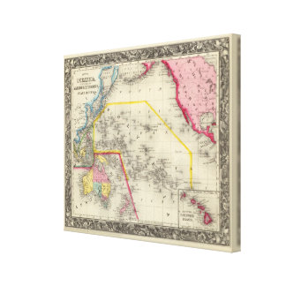 Map Of Oceanica Canvas Print