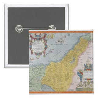 Map of Palestine 15 Cm Square Badge