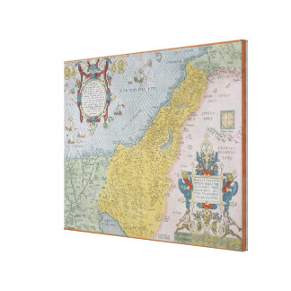 Map of Palestine Gallery Wrapped Canvas