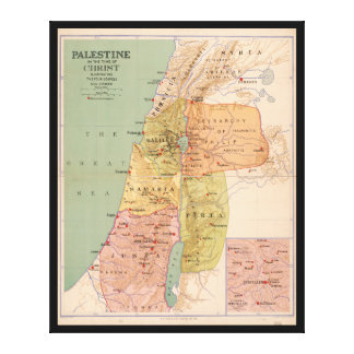Map of Palestine in Time of Christ (to 70 A.D.) Canvas Print