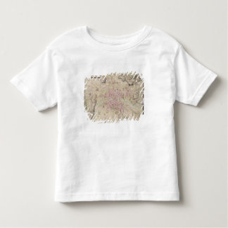 Map of Paris and its Surrounding Toddler T-Shirt