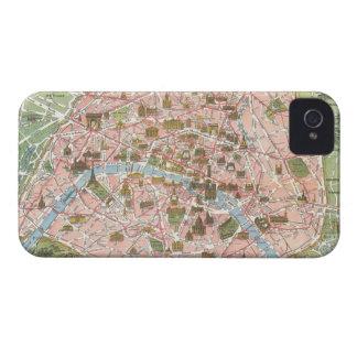Map of Paris Blackberry Bold Case