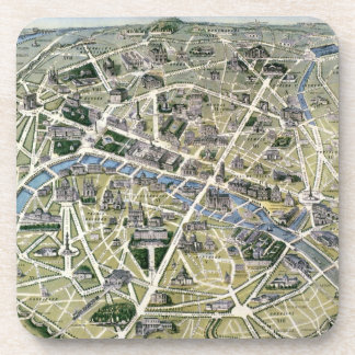 Map of Paris during the period of the Grands Beverage Coaster