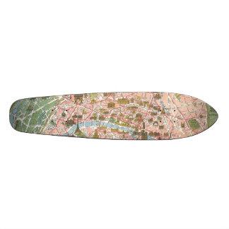 Map of Paris Skateboard Oldschool