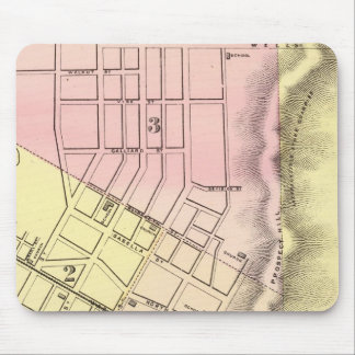 Map of Parkersburg, West Virginia Mouse Pad