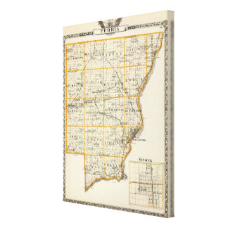 Map of Peoria County and Minonk Canvas Print