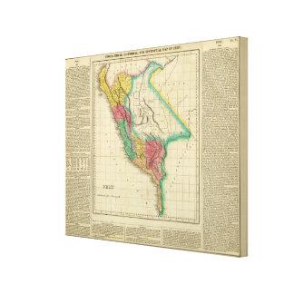Map Of Peru Canvas Prints
