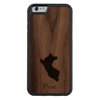 Map of Peru: Classic Design Carved Walnut iPhone 6 Bumper Case