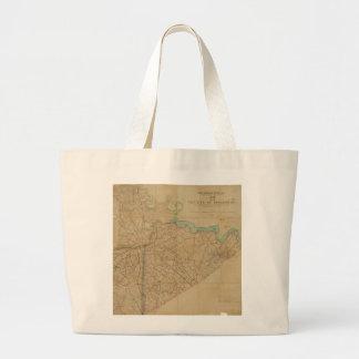 Map of Petersburg Virginia (1864) Jumbo Tote Bag