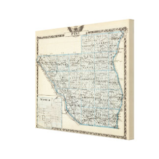 Map of Pike County and Pittsfield Gallery Wrapped Canvas