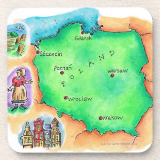 Map of Poland Coaster