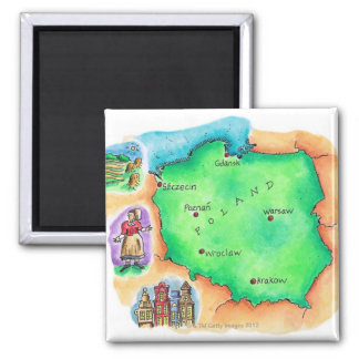 Map of Poland Magnet