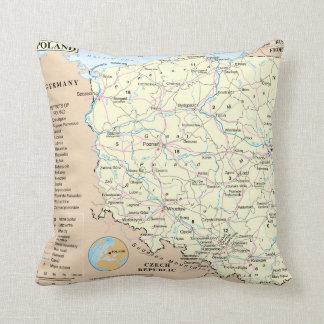 """Map of Poland MoJo Throw Pillow 20"""" x 20"""""""