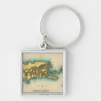 Map Of Porto Rico And The Virgin Islands Key Chain