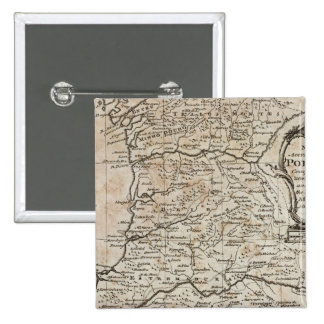 Map of Portugal 15 Cm Square Badge