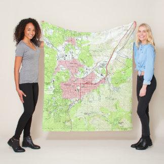 Map of Prescott Arizona (1973) Fleece Blanket