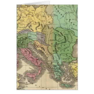 Map of Provinces in Roman Empire Card